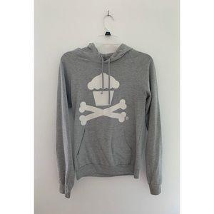 Johnny Cupcakes cross-bone logo pullover hoodie